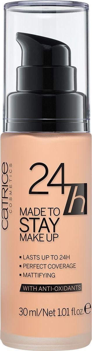 Catrice Тональная основа 24h Made To Stay Make Up 025 Warm Beige темно-бежевый, 104 г002722Жидкая тональная основа с матирующим эффектом гарантирует стойкость Вашего макияжа до 24 часов. Формула содержит активный комплекс антиоксидантов, который позволяет защитить кожу от негативного воздействия окружающей среды.