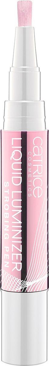 Catrice Люминайзер Liquid Luminizer Strobing Pen 010 Sleeping Beautys Rose розовое золото, 17 г0003934Жидкий люминайзер для стробинга выполнен в форме карандаша с аккуратной кисточкой-аппликатором.Легкая текстура средства насыщена мельчайшими светоотражающими частицами и легко растушевывается, придавая коже эффектное сияние и подчеркивая рельеф лица.