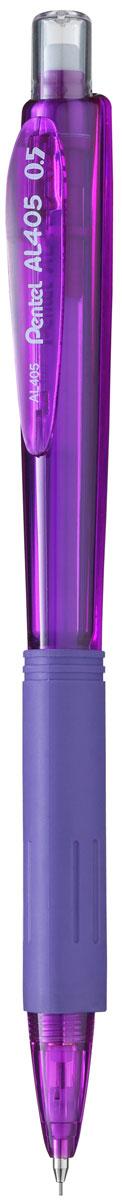 Pentel Карандаш механический цвет корпуса фиолетовый72523WDКомфортный и надежный карандаш Pentel с трехгранной мягкой зоной захвата.Карандаш имеет прочный корпус из матового пластика зеленого цвета и металлическую убирающуюся цангу.Под колпачком карандаша находится ластик.