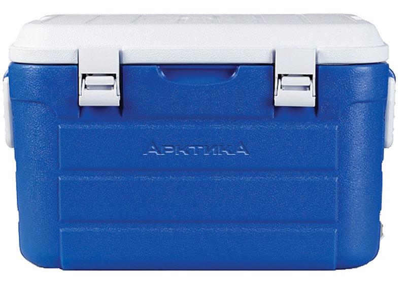 Изотермический контейнер Арктика, цвет: синий, белый, 30 л19201Изотермический контейнер с высокой степенью термоизоляции - преданный спутник для настоящего охотника, рыбака и любителя дальних поездок. Универсальная герметичная вещь, которая пригодится, когда необходимо сохранить температуру еды и напитков длительное время. К тому же, изделие имеет жесткую конструкцию, что позволяет использовать термоконтейнеры больших объемов как стул или стол, а также можно ставить тяжести сверху. Рекомендуется использовать вместе с аккумуляторами холода из расчета 10% от объема термоконтейнера.