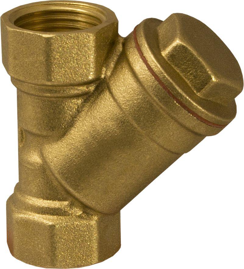 Aqualink Фильтр косой 1 в/в NS68/5/2Фильтр косой предназначен для предварительной очистки потока среды трубопровода от механических примесей. На каждом изделии указано направление потока. Корпус фильтра изготовлен из латуни. Материал прокладки: тефлон Нормативный срок службы: 25 лет Размер ячейки сетки: 400 мкм Максимальная рабочая температура: +125°С Максимальное рабочее давление: 20Бар