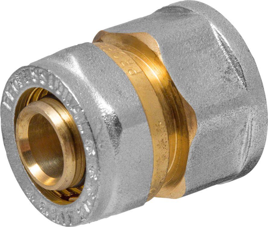 RVC Соединитель (патрубок) 20х3/4 ц/г RC655.01Соединитель (патрубок) предназначен для соединения металлопластиковых труб. При установке данного фитинга не требуется специальное оборудование, достаточно разводного ключа. Соединение получается разъемным, что позволяет при необходимости произвести обслуживание участка трубопровода. Для обслуживания самого фитинга достаточно сменить уплотнительные кольца. Рабочая температура до 95 С, нормативное рабочее давление до 10 бар. Материал корпуса - никелированная латунь CW617N.