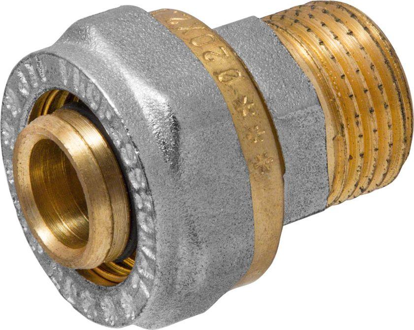 RVC Соединитель (патрубок) 20х1/2 ц/ш RC655.01Соединитель (патрубок) предназначен для соединения металлопластиковых труб. При установке данного фитинга не требуется специальное оборудование, достаточно разводного ключа. Соединение получается разъемным, что позволяет при необходимости произвести обслуживание участка трубопровода. Для обслуживания самого фитинга достаточно сменить уплотнительные кольца. Рабочая температура до 95 С, нормативное рабочее давление до 10 бар. Материал корпуса - никелированная латунь CW617N.