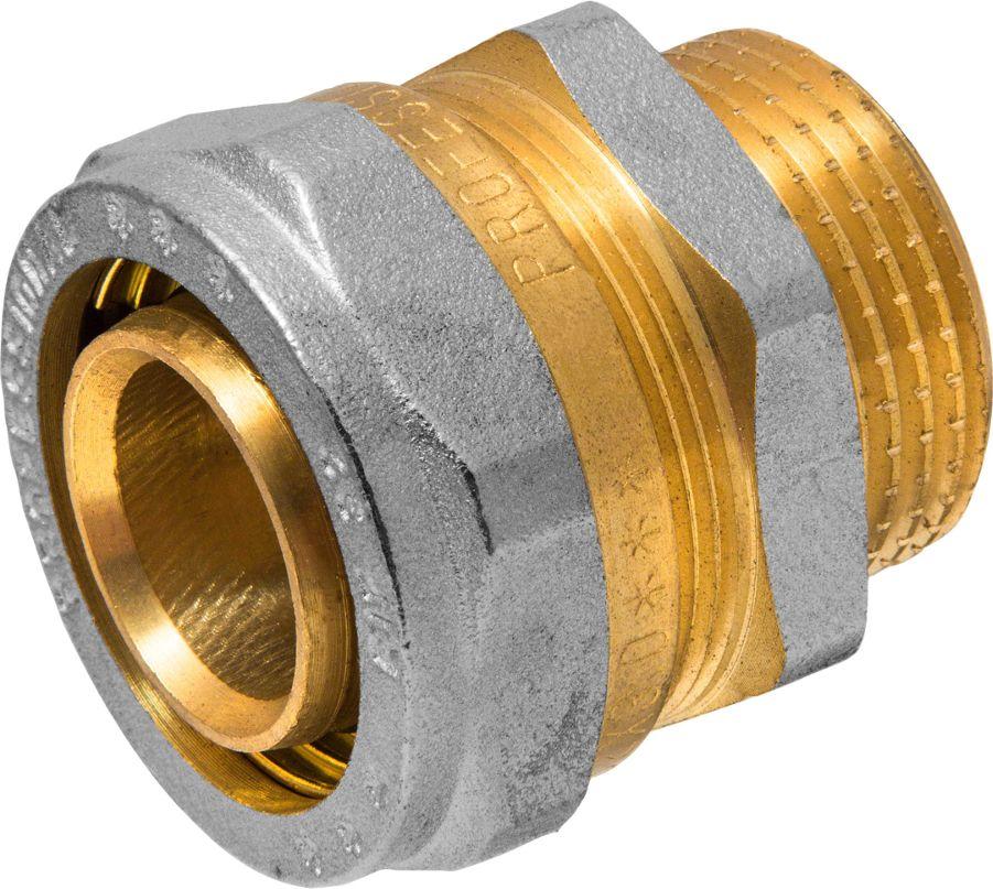 RVC Соединитель (патрубок) 32х1 ц/ш RC68/5/3Соединитель (патрубок) предназначен для соединения металлопластиковых труб. При установке данного фитинга не требуется специальное оборудование, достаточно разводного ключа. Соединение получается разъемным, что позволяет при необходимости произвести обслуживание участка трубопровода. Для обслуживания самого фитинга достаточно сменить уплотнительные кольца. Рабочая температура до 95 С, нормативное рабочее давление до 10 бар. Материал корпуса - никелированная латунь CW617N.