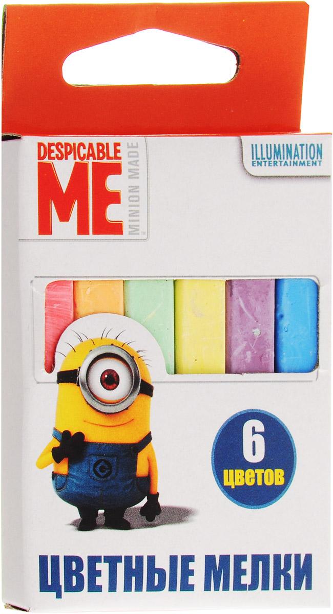 Universal Миньоны Цветные мелки 6 цветовFS-36054Набор цветных мелков ТМ Гадкий Я поможет детям создавать яркие большие картины на асфальте и других шероховатых поверхностях, развивая их творческие способности, воображение, цветовосприятие и моторику рук. В набор входит 6 разноцветных мелков с удобным квадратным сечением. Мелки имеют яркие цвета, прочны, устойчивы к стиранию. Для детей старше трех лет.