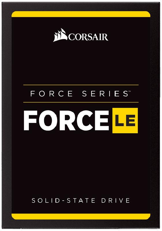 Corsair Force Series LE 480GB SSD-накопитель (CSSD-F480GBLEB)SSDSCKJW180H601Твердотельные накопители семейства Force LE со встроенной новейшей технологией TLC NAND отличаютсябольшой емкостью для хранения и более высокой скоростью работы по сравнению с жесткими дисками. Заменамеханического жесткого диска высокоскоростным твердотельным накопителем сегодня более доступна, чемкогда-либо. Наслаждайтесь быстрым запуском и выключением системы, а также более высокой скоростью загрузкиприложений. В зависимости от потребностей в отношении хранения данных можно выбрать модели различнойемкости.Большая емкость накопителей Force Series LE удовлетворит ваши ежедневные потребности хранения данных,необходимых для работы, игр, творчества, видеофильмов, музыки, ведения документации и т. д.Функция интеллектуального нивелирования износа с быстрым и эффективным управлением даннымиобеспечивает более длительный срок эксплуатации диска, надежность и высокую скорость работы.Твердотельные накопители Force Series LE потребляют значительно меньше электроэнергии, чем обычныежесткие диски, повышают эффективность потребления энергии настольными ПК и увеличивают срок службыаккумуляторов переносных компьютеров.Защита ваших данных - это самое главное. Для надежного хранения данных и исправления ошибок в накопителяхForce Series LE реализована технология SmartECC и SmartRefresh.Владельцам накопителей Force Series LE предоставляется доступ к набору программных средств длятвердотельных накопителей Corsair, который является мощным инструментом, позволяющим использоватьнакопитель максимально эффективно.Ударостойкость: 500G