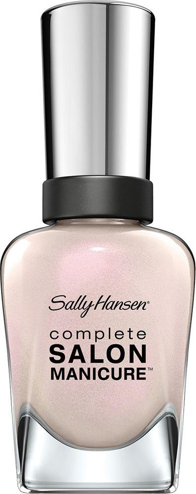 Sally Hansen Salon Manicure Keratin Лак для ногтей тон luna pearl 120 14,7 мл002722Комплекс Complete Salon Manicure сочетает семь эффектов в одном флаконе, плюс кисточку для безукоризненного покрытия, легкого нанесения и салонных результатов. Эта формула всё-в-одном обеспечивает до 10 дней устойчивого к сколам покрытия и включает основу, средство для роста, вдохновленный подиумом цвет, топ, финишное покрытие с гелевым сиянием, устойчивость к сколам и укрепляющее средство с кератиновым комплексом, делающим ногти до 64% сильнее. Это всё, что вам нужно, чтобы достичь профессиональных результатов при окрашивании ногтей на дому!