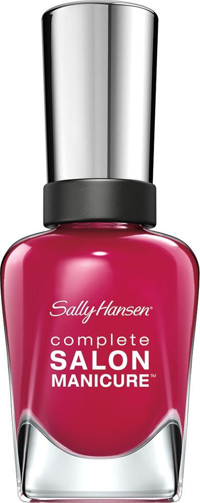 Sally Hansen Salon Manicure Keratin Лак для ногтей тон berry important #543 14,7 млперфорационные unisexКомплекс Complete Salon Manicure сочетает семь эффектов в одном флаконе, плюс кисточку для безукоризненного покрытия, легкого нанесения и салонных результатов. Эта формула всё-в-одном обеспечивает до 10 дней устойчивого к сколам покрытия и включает основу, средство для роста, вдохновленный подиумом цвет, топ, финишное покрытие с гелевым сиянием, устойчивость к сколам и укрепляющее средство с кератиновым комплексом, делающим ногти до 64% сильнее. Это всё, что вам нужно, чтобы достичь профессиональных результатов при окрашивании ногтей на дому!