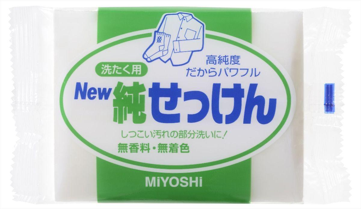 Мыло для стирки Miyoshi Miyosh, для точечного застирывания стойких загрязнений. 04311980653Мыло прекрасно отстирывает загрязнения на воротничках и манжетах, легко справляясь с самыми трудными пятнами. Твердое, без красителей, без отдушек, с использованием при изготовлении натуральных масел и жиров.Меры предосторожности: Используйте строго по назначению. Не для стирки шелка и шерсти. После использования храните мыло в сухом месте.Состав: чистая (без примесей) мыльная основа (натриевая соль с содержанием жирных кислот 98%)