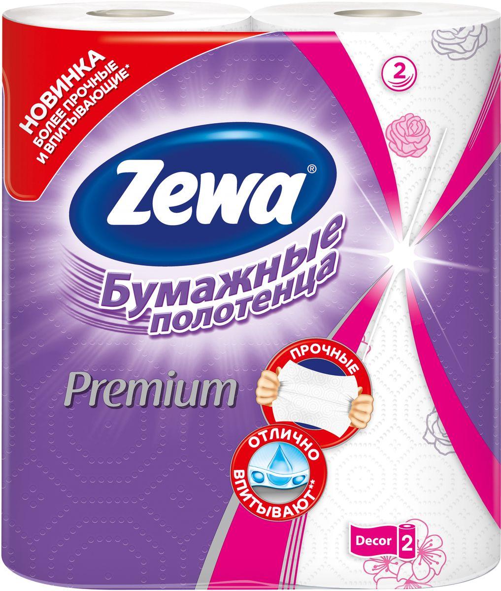 Бумажные полотенца Zewa Premium Decor, 2 рулона10503Белые 2-х слойные бумажные полотенца улучшенного качества с цветным рисунком 2 рулона в упаковке Состав: целлюлоза Производство: Россия