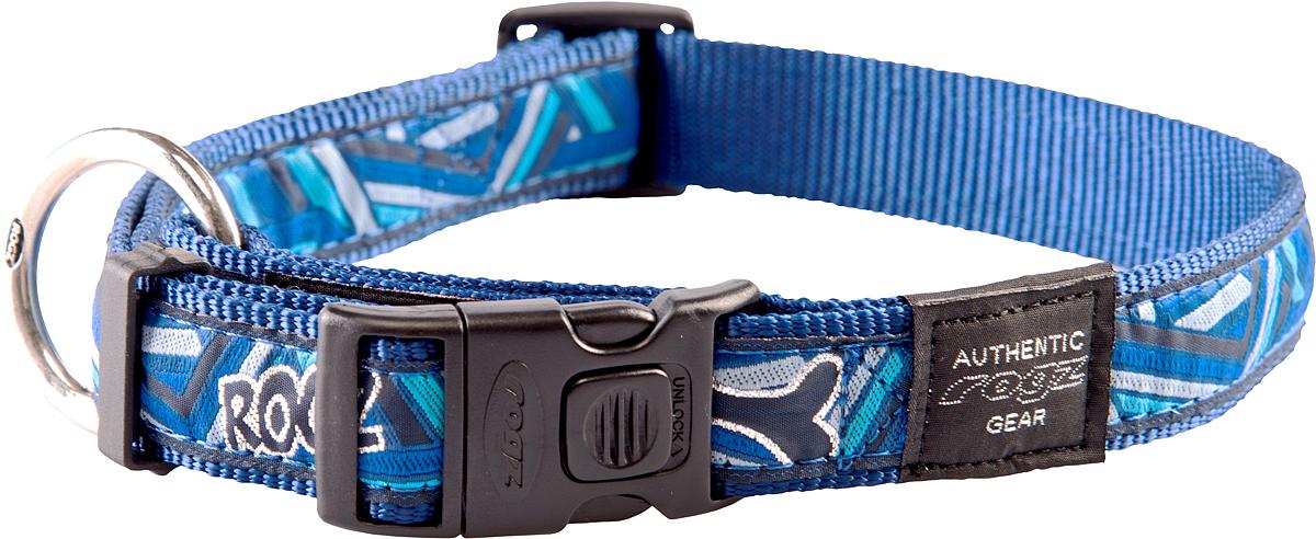 Ошейник для собак Rogz Fancy Dress, ширина 2,5 см. Размер XL. HB02CD0120710Необычный дизайн. Широкая гамма потрясающе красивых орнаментов на прочной тесьме поверх нейлоновой ленты украсит Вашего питомца.Специальная конструкция пряжки Rog Loc - очень крепкая(система Fort Knox). Замок может быть расстегнут только рукой человека.Технология распределения нагрузки позволяет снизить нагрузку на пряжки, изготовленные из титанового пластика, с помощью правильного и разумного расположения грузовых колец.Особые контурные пластиковые компоненты. Специальная округлая форма конструкции позволяет ошейнику комфортно облегать шею собаки.Литое кольцо. Выполненые по заказу литые кольца имеют хромирование, нанесенное гальваническим способом, что позволяет избежать коррозии и потускнения изделия. Полотно: нейлоновая тесьма. Пряжки: ацетиловый пластик. Кольца: цинковое литье.