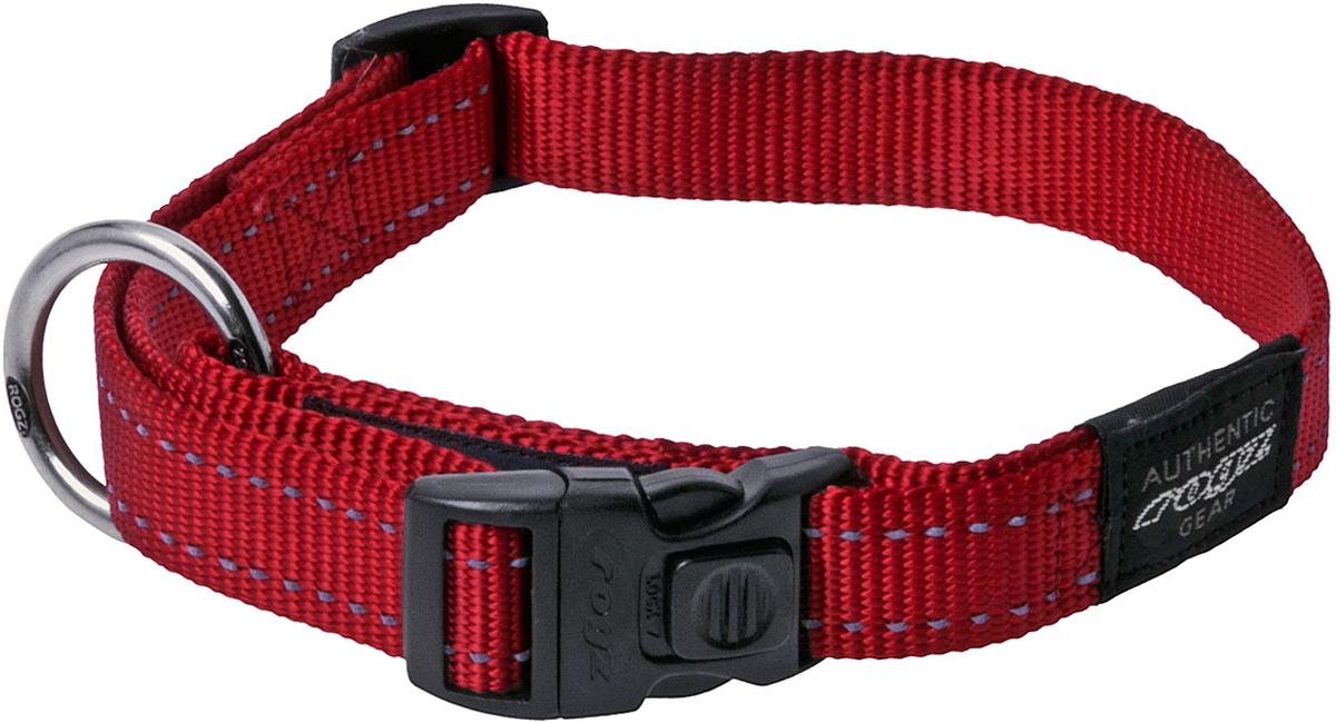 Ошейник для собак Rogz Utility , цвет: красный, ширина 2,5 см. Размер XL0120710Видимость ночью. Светоотражающая нить, вплетенная в нейлоновую ленту - для обеспечения лучшей видимости собаки в темное время суток.Специальная конструкция пряжки Rog Loc - очень крепкая (система Fort Knox). Замок может быть расстегнут только рукой человека.Технология распределения нагрузки позволяет снизить нагрузку на пряжки, изготовленные из титанового пластика, с помощью правильного и разумного расположения грузовых колец.Особые контурные пластиковые компоненты. Специальная округлая форма конструкции позволяет ошейнику комфортно облегать шею собаки.Выполненные специально по заказу ROGZ литые кольца гальванически хромированы, что позволяет избежать коррозии и потускнения изделия. Полотно:нейлоновая тесьма, светоотражающая нить.Пряжки: ацетиловый пластик. Кольца: цинковое литье.