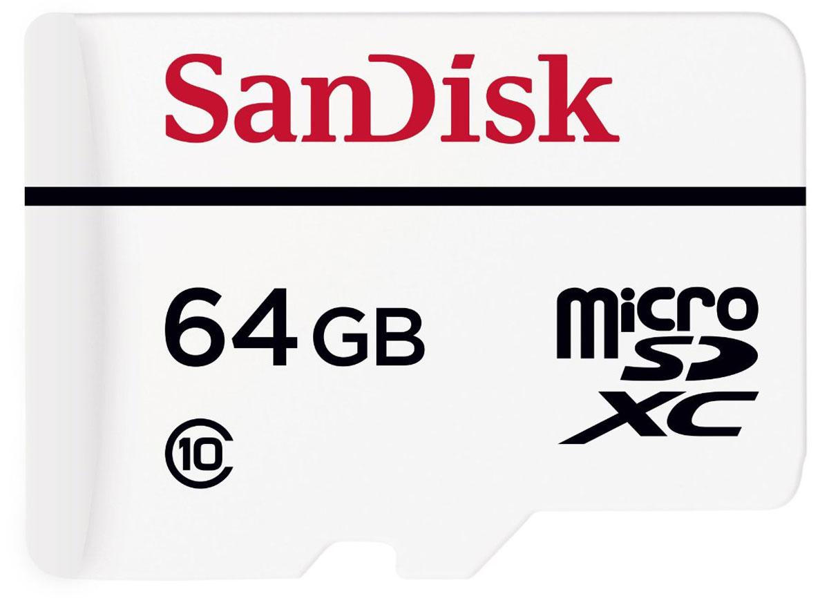 SanDisk High Endurance Video Monitoring microSDXC 64GB карта памяти с адаптеромSDCG/32GBКарты памяти SanDisk High Endurance Video Monitoring microSD обеспечивают емкость, производительность иисключительную надежность для многочасовой записи видео Full HD для нужд современных охранных систем ивидеорегистраторов. Они также защищены от экстремальных температур, ударов, воды и рентгеновских лучей,поэтому вы можете не переживать о сохранности доказательств.Карты памяти SanDisk High Endurance microSDXC на 64 ГБ для систем видеонаблюдения рассчитаны на 10000 часовзаписи в формате Full HD на автомобильные регистраторы или домашние системы безопасности, обеспечиваянадежное сохранение данных обо всем, что происходит дома или в дороге.Карты памяти SanDisk High Endurance для систем видеонаблюдения обладают достаточной скоростью записи как врежиме HD, так и в режиме Full HD. Исключительно надежно работает в любых камерах и системахвидеонаблюдения.Высокопроизводительная карта SanDisk High Endurance Video Monitoring microSD — лучший выбор для любогоавторегистратора или домашней системы безопасности, для которой нужна внешняя карта памяти форматаmicroSD или SD. Карта поставляется вместе с адаптером.