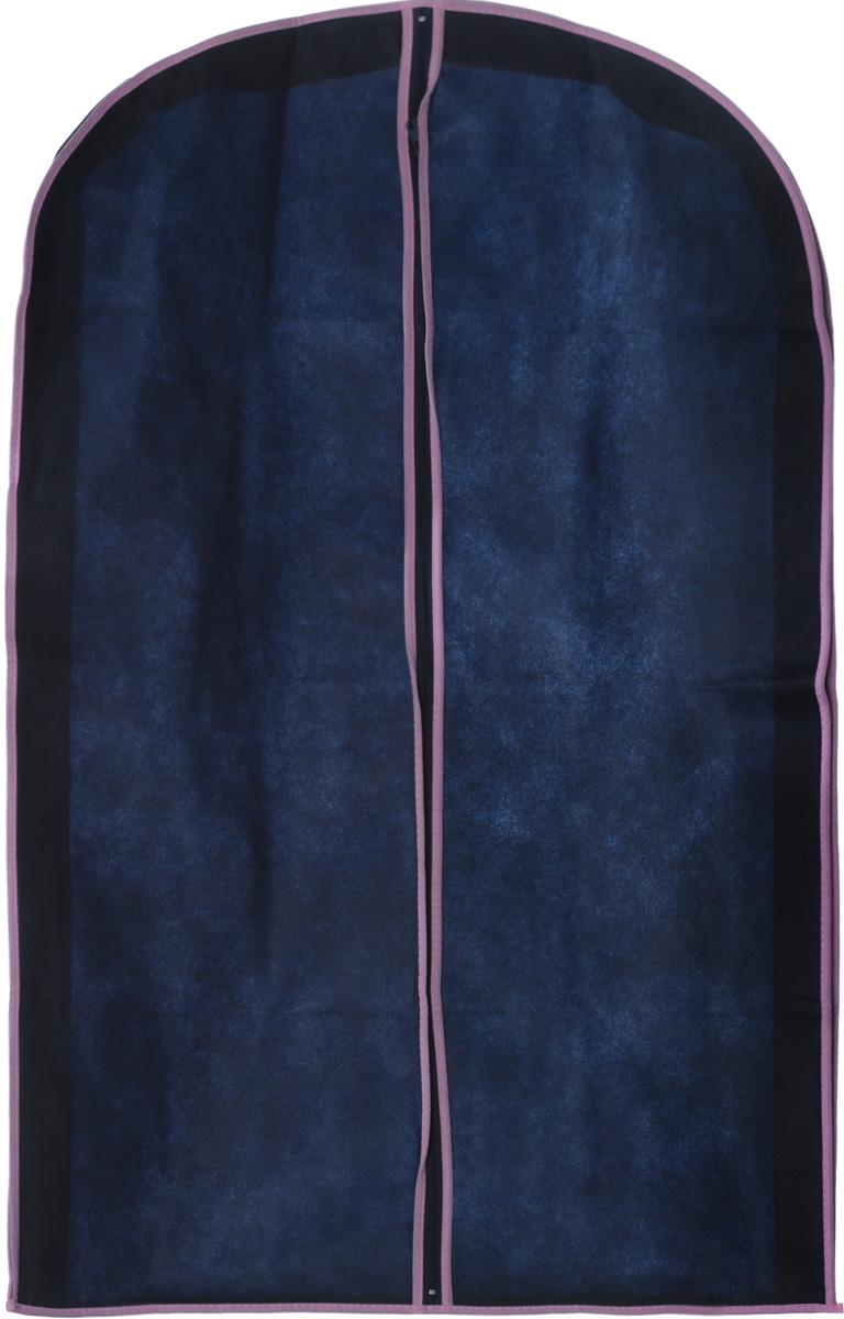 Чехол для хранения одежды Hemline, на молнии, цвет: темно-синий, розовый, 60 х 9 х 100 смES-412Чехол для хранения одежды Hemline выполнен изспециального дышащего нетканого материала (спанбонд),поэтому одежда вентилируется даже во время долгогохранения. Одежда в таком чехле сохранится чистой и свежей.Изделие оснащено удобной и качественной молнией.
