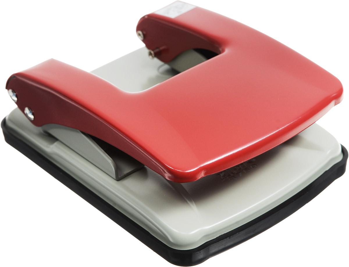 KW-Тrio Дырокол Stylish цвет серый красный40701Офисный дырокол KW-Тrio Stylish изготовлен из металла и пластика.Дырокол снабжен пластиковой выдвижной линейкой и поддоном для конфетти.
