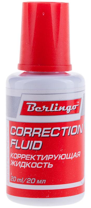 Berlingo Корректирующая жидкость с кистью 20 млFS-00103Флакон с кисточкой. Точное нанесение. Надежный колпачок предотвращает засыхание. Моментально высыхает после нанесения.