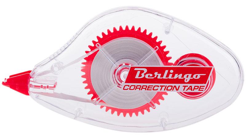 Berlingo Корректирующая лента 5 мм х 8 м62124Прозрачный корпус из пластика позволяет видеть расход ленты. Подходит для машинописного или рукописного текста. Плотное и точное покрытие, не требует времени на высыхание. Упаковка - блистер с европодвесом.