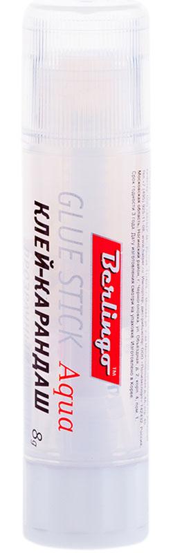 Berlingo Клей-карандаш прозрачный 8 г1765085Прозрачный клей-карандаш 8г. Предназначен для склеивания всех видов бумаг, картона, фотографий. Бумага не увлажняется, не деформируется, проклеивается ровно, без комков и волокон. Не токсичен, не содержит растворителей. Надежный колпачок предохраняет от высыхания.