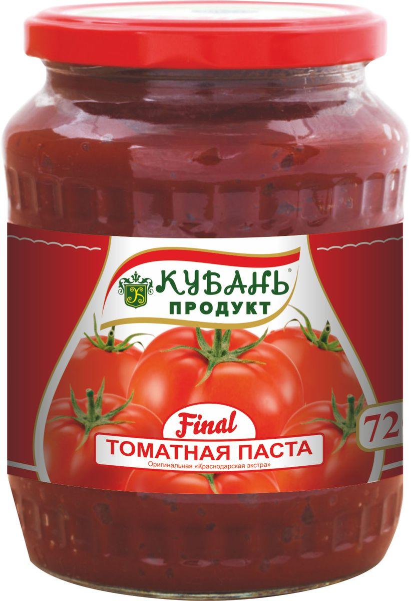 """Томатная паста """"Кубань Продукт"""" приготовлена только из отборных Российских томатов. Очень густая, с насыщенным цветом и ароматом свежих томатов."""