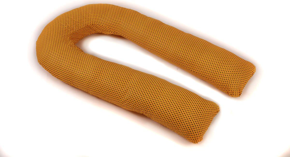 Body Pillow Подушка для беременных U-образная с наволочкой цвет желтый черный 90 х 150 см01-1033-5Подушка для беременных в форме U – самая популярная и самая большая подушка, которая помогает будущей маме комфортно устроиться во время дневного и ночного отдыха. Она равномерно поддерживает спинку и растущий животик, и при переворачивании на другую сторону подушку не нужно перетаскивать за собой, она обнимает тело со всех сторон.