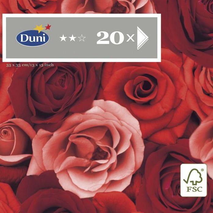 Салфетки бумажные Duni Романс, 3-слойные, 33 х 33 см, 20 шт790009Трехслойные бумажные салфетки изготовлены из экологически чистого, высококачественного сырья - 100% целлюлозы. Салфетки выполнены в оригинальном и современном стиле, прекрасно сочетаются с любым интерьером и всегда будут прекрасным и незаменимым украшением стола.