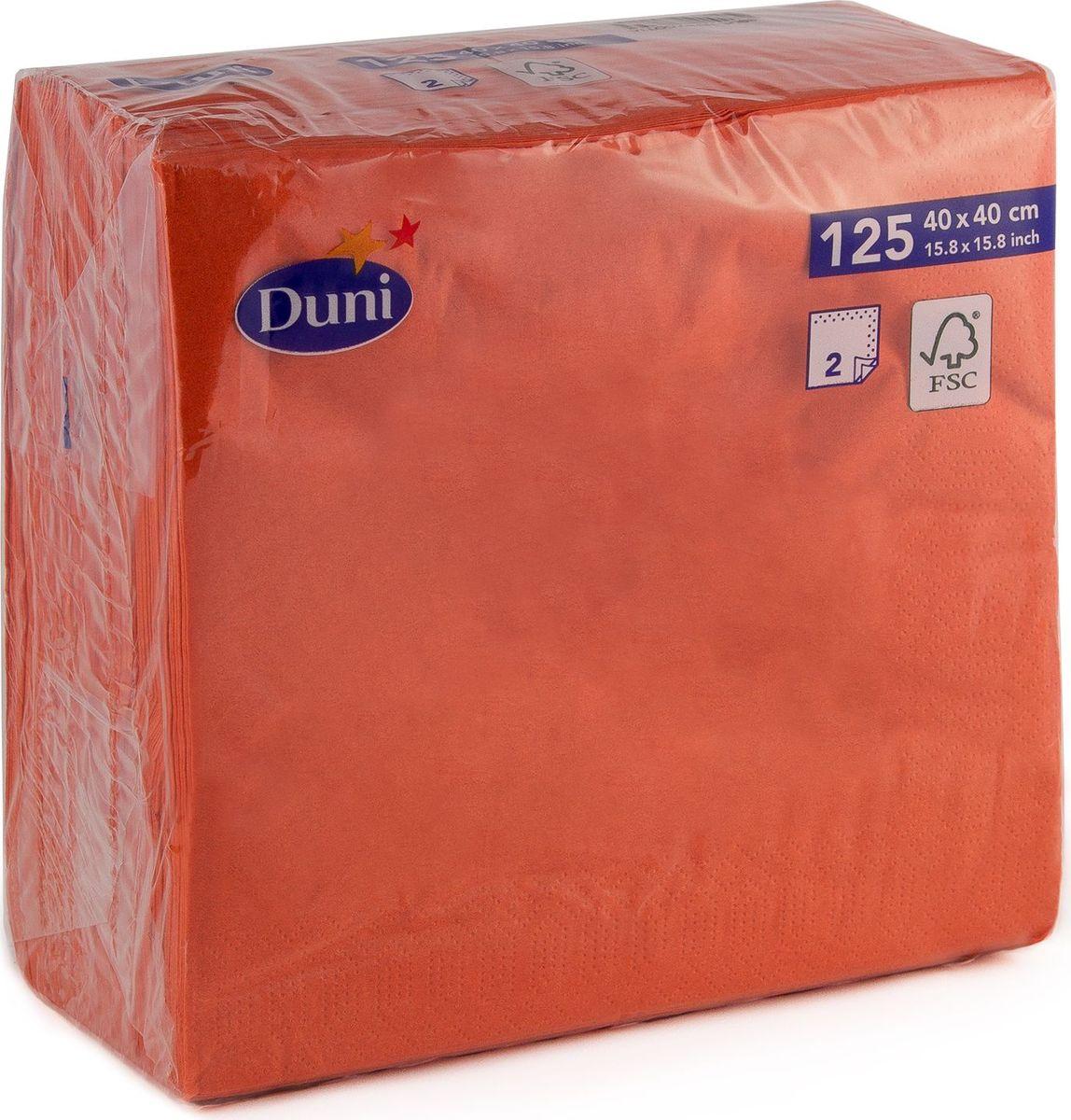 Салфетки бумажные Duni, 2-слойные, цвет: красный, 40 смVT-1520(SR)Многослойные бумажные салфетки изготовлены из экологически чистого, высококачественного сырья - 100% целлюлозы. Салфетки выполнены в оригинальном и современном стиле, прекрасно сочетаются с любым интерьером и всегда будут прекрасным и незаменимым украшением стола.