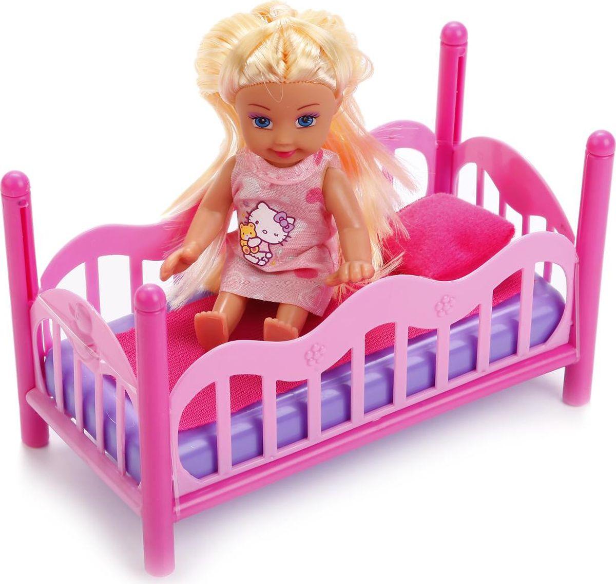 Карапуз Кукла Hello Kitty Машенька с кроваткой цвет розовый кукла машенька кукла книжка