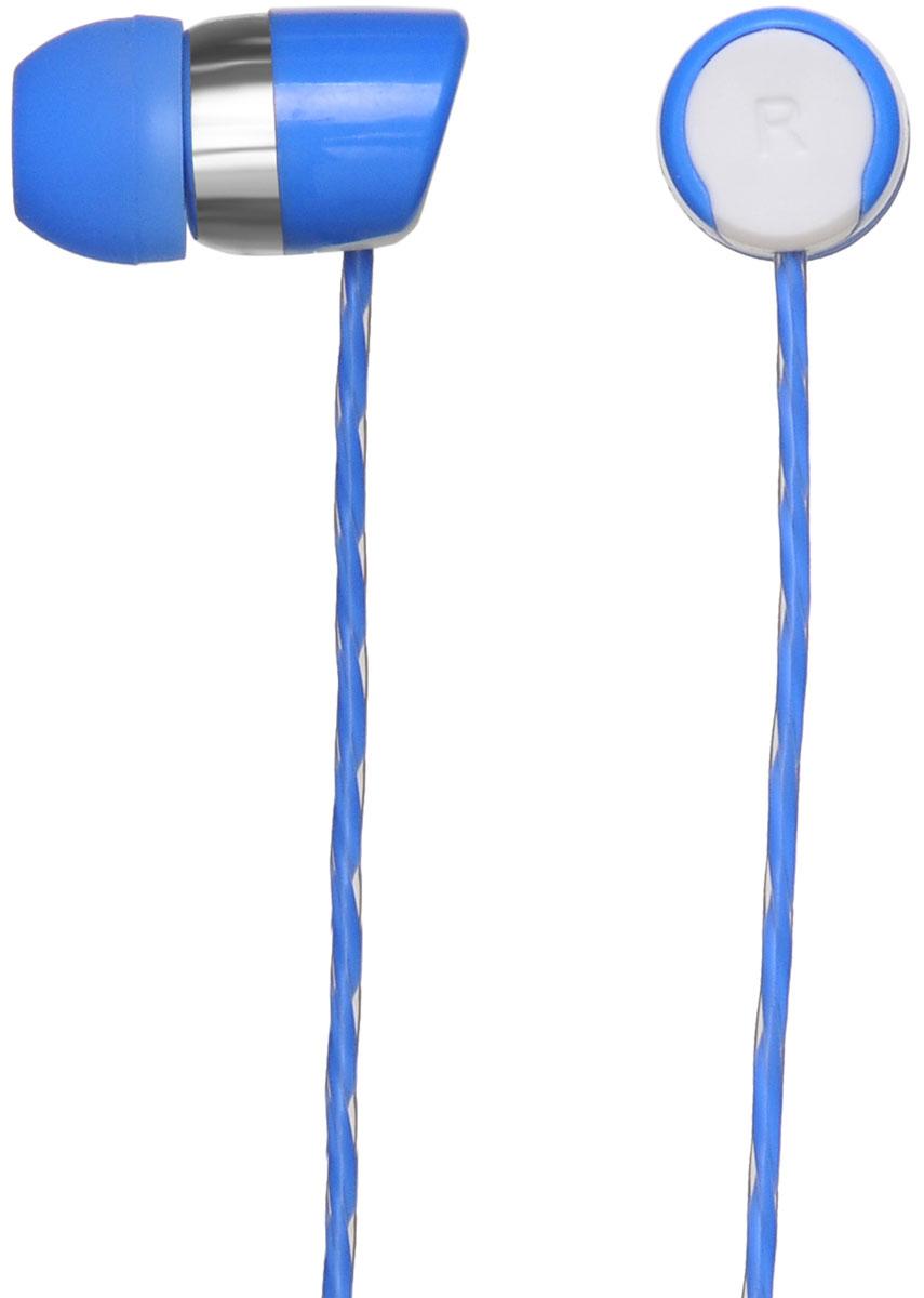Oklick HS-S-230, Blue наушники00-00001363Oklick HS-S-230 - подходящий выбор для тех, кто не может представить свою жизнь без любимой музыки отменного качества, звучащей в ушах в пути, во время занятий спортом и любое другое удобное время.Наушники плотно и надежно фиксируются в ушной раковине благодаря специальной форме амбушюр, что выгодно отличает ее от других проводных моделей. Легковесная конструкция делает ношение этого устройства невероятно комфортным.Акустические характеристики гарнитуры Oklick HS-S-230 обеспечивают естественное звучание на средних частотах и четкую детализацию звуков при прослушивании музыки и аудиокниг.Данная модель оснащена кнопкой ответа на вызов и микрофоном, закрепленными на проводе, поэтому ее можно использовать при подключении не только к компактной аудиотехнике, но и смартфону.