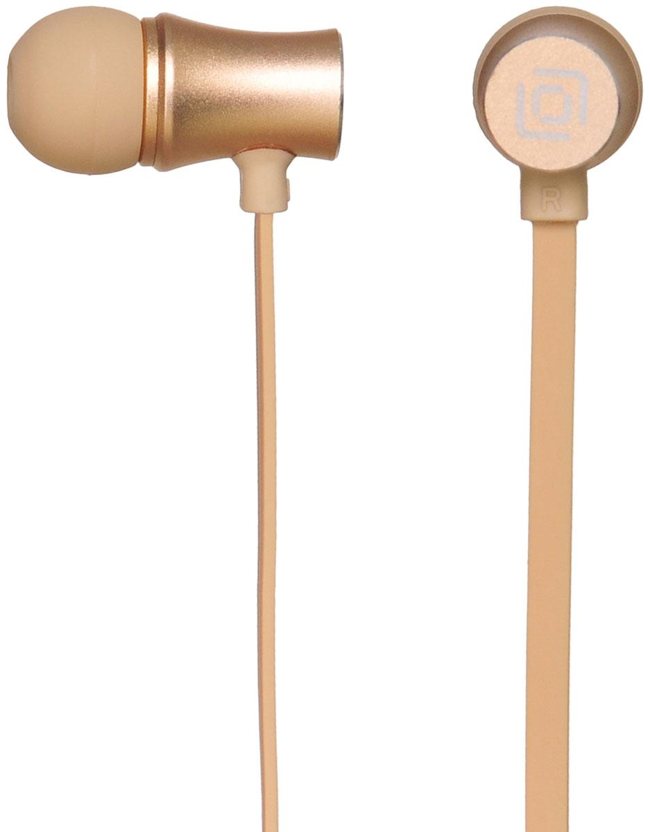 Oklick HS-S-310, Gold наушники15119143Oklick HS-S-310 - подходящий выбор для тех, кто не может представить свою жизнь без любимой музыки отменного качества, звучащей в ушах в пути, во время занятий спортом и любое другое удобное время.Наушники плотно и надежно фиксируются в ушной раковине благодаря специальной форме амбушюр, что выгодно отличает ее от других проводных моделей. Легковесная конструкция делает ношение этого устройства невероятно комфортным.Акустические характеристики гарнитуры Oklick HS-S-310 обеспечивают естественное звучание на средних частотах и четкую детализацию звуков при прослушивании музыки и аудиокниг.Данная модель оснащена кнопкой ответа на вызов и микрофоном, закрепленными на проводе, поэтому ее можно использовать при подключении не только к компактной аудиотехнике, но и смартфону.