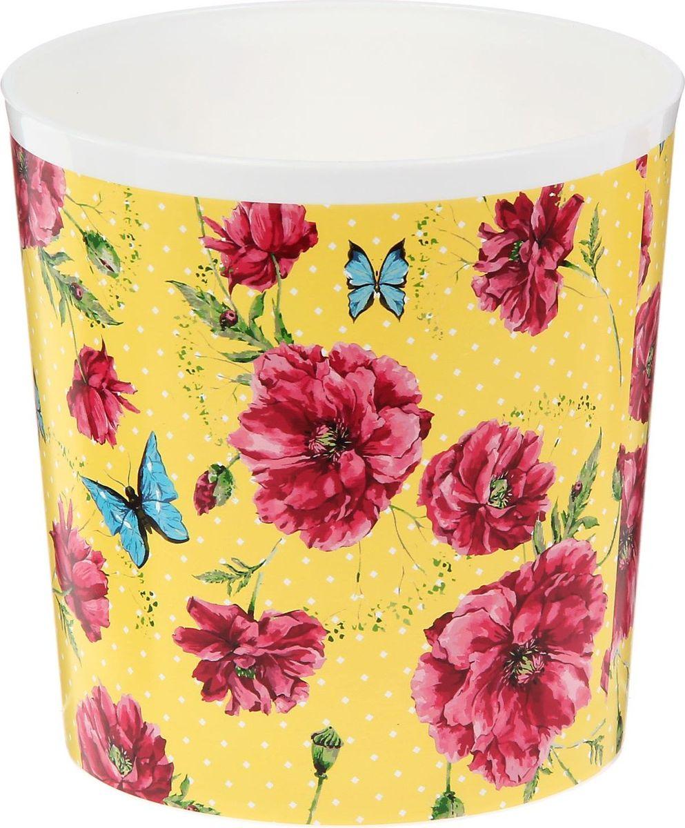 Кашпо Доляна Цветы и бабочки, 1,6 л531-401Сложно представить дом, в котором нет растений. Они радуют владельца, очищают воздух, насыщают его кислородом и украшают интерьер. Каждому зелёному помощнику необходим собственный оригинальный домик, и Кашпо 1,6 л Цветы и бабочки прекрасно справится с этой ролью.Лёгкое и прочное изделие позволит вам создать чудесные цветочные композиции, вырастить рассаду или необычные растения.Диаметр основания — 11,5 см.