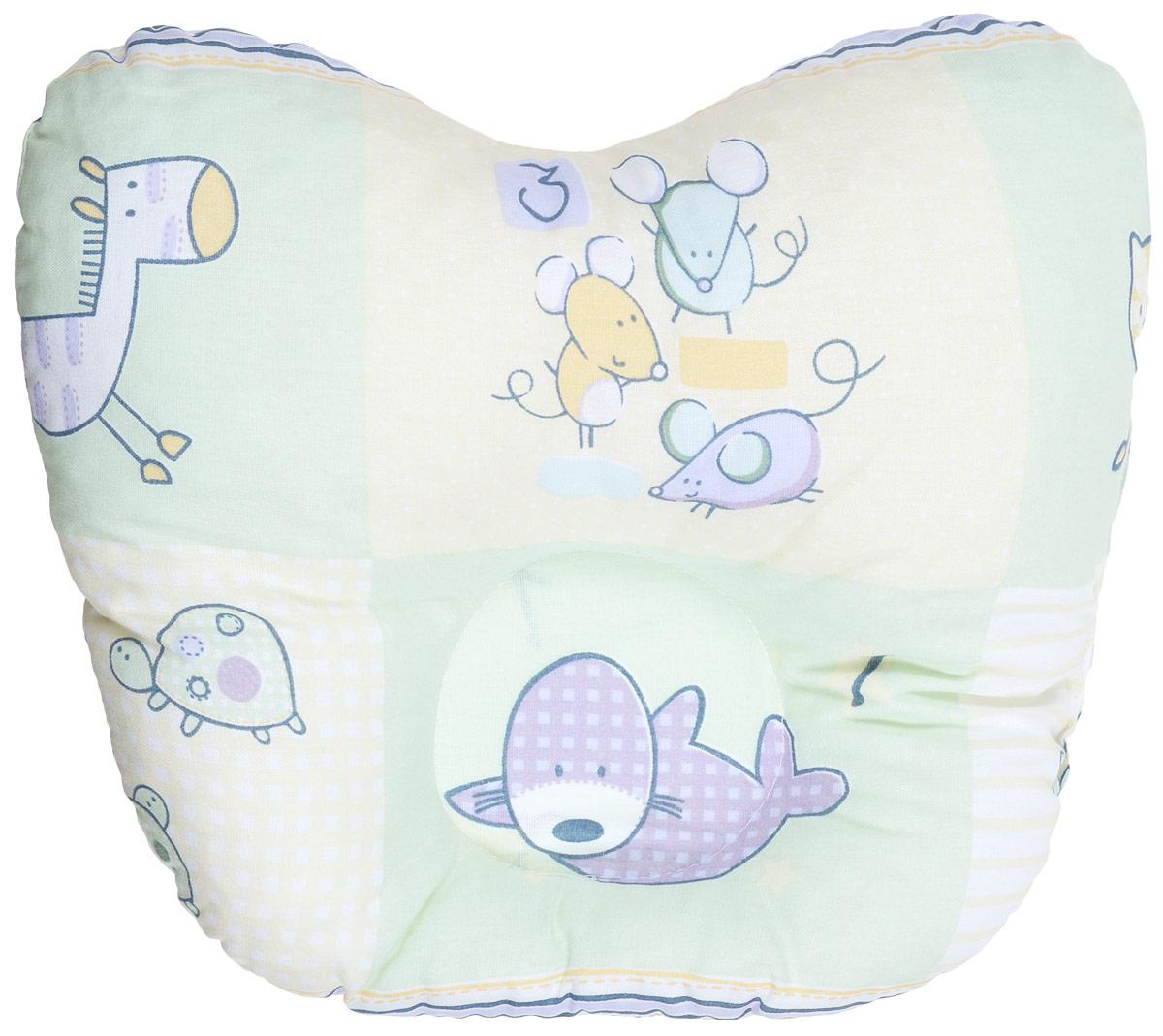 Сонный гномик Подушка анатомическая для младенцев Мыши, птицы, ежики 27 х 27 смS03301004Анатомическая подушка для младенцев Сонный гномик Мыши, птицы, ежики изготовлена из бязи - 100% хлопка. Наполнитель - синтепон в гранулах (100% полиэстер).Подушка компактна и удобна для пеленания малыша и кормления на руках, она также незаменима для сна ребенка в кроватке и комфортна для использования в коляске на прогулке. Углубление в подушке фиксирует правильное положение головы ребенка.Подушка помогает правильному формированию шейного отдела позвоночника.