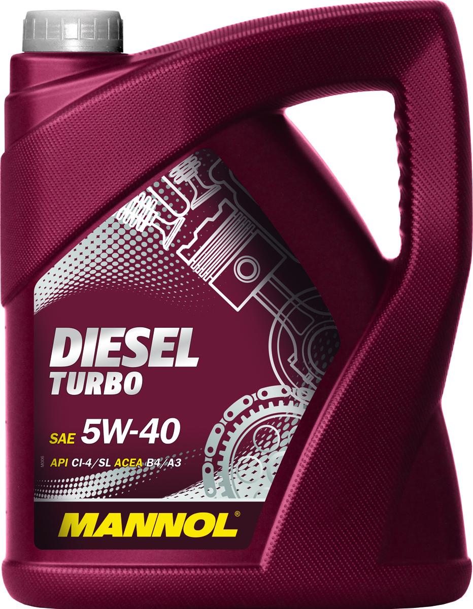Моторное масло MANNOL Diesel Turbo, 5W-40, API CI-4/SL, синтетическое, 5 лCA-3505Mannol Diesel Turbo 5W40 - всесезонное моторное масло, разработанное для современных высокофорсированных турбодизельных инжекторных двигателей. Обеспечивает высокую прокачиваемость при холодном старте. Обладает оптимальной вязкостью в широком диапазоне температур. Эффективно защищает от износа. Обеспечивает исключительную чистоту деталей двигателя. Применимо также для бензиновых двигателей.Допуски и соответствия ACEA B4/A3, VW 502.00/505.00