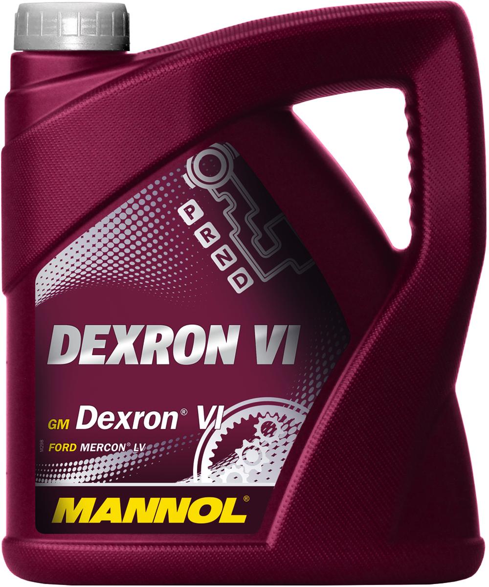 Трансмиссионное масло MANNOL Dexron VI, синтетическое, 4 л2706 (ПО)Mannol Dеxron VI - жидкость высочайшего качества для автоматических трансмиссий легковых и грузовых автомобилей, предписывающих применение стандарта GM Dexron VI или более раннего поколения Dexron. Благодаря использованию высококачественных базовых масел и эффективного пакета присадок жидкость обладает улучшенными фрикционными характеристиками, обеспечивая четкое переключение передач в любых условиях вождения и продлевая срок службы АКПП. Mannol Dexron VI рекомендуется к применению в новых шестиступенчатых АКПП автомобилей GM, BMW, Land Rover, Jaguar. Может использоваться в широком диапазоне эксплуатационных условий. Продукт имеет допуски / соответствует спецификациям / продуктам: GM DEXRON VI FORD Mercon LV TOYOTA Type WS HYUNDAI SP-IV NISSAN Matic S ALLISON C4 CHRYSLER ATF +4 SHELL M-1375.4 JASO 1A MB 236.14