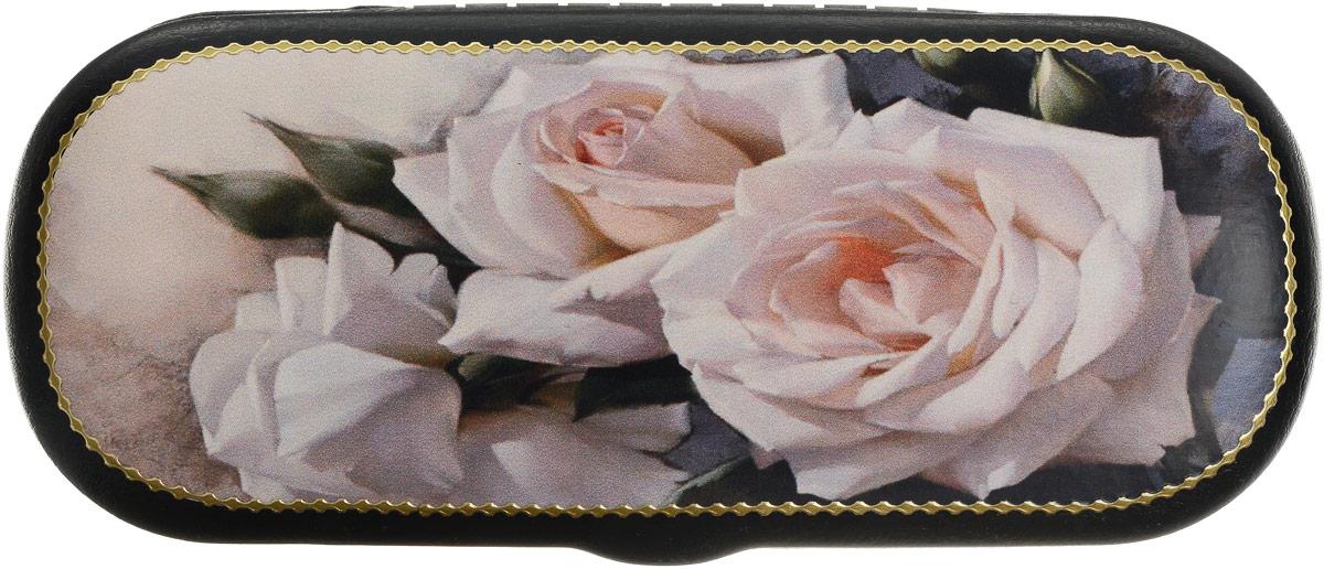Футляр для очков Феодора Розы, цвет: черный. Ручная работа. TL-49--RBINT-06501Стильный футляр для очков на твердой основе, выполнен из исскуственной кожи и оформлен цветочным принтом в технике декупажа. Внутри отделан мягким бархатистым материалом.