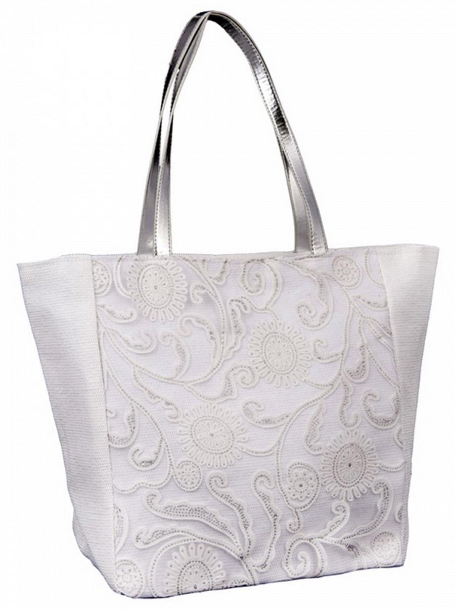 Сумка женская Venera, цвет: белый. 1202856-2BP-001 BKВосхитительная сумка Venera белого цвета, размером 36х33х18см. Изготовлена из полиэстера прочного материала непропускающего влагу. Сумка это важнейшая часть женского гардероба, она является как модным аксессуаром так и удобным вместительным изделием для необходимых вещей.