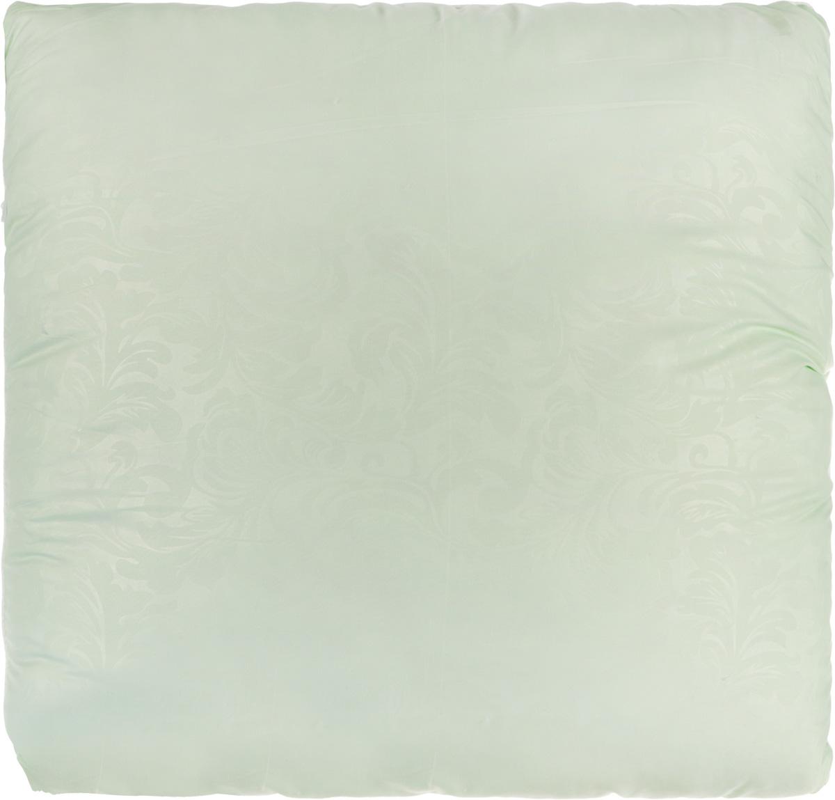 Подушка Smart Textile Безмятежность, наполнитель: лебяжий пух, алоэ вера, цвет: светло-зеленый, 70 х 70 смES-412Удобная и мягкая подушка Smart Textile Безмятежность подарит здоровый сон и отличный отдых. Чехол подушки на молнии выполнен из микрофибры с красивым узором. В качестве наполнителя используется лебяжий пух, пропитанный экстрактом алоэ вера.Лебяжий пух - это 100% сверхтонкое высокосиликонизированное волокно. Такой наполнитель мягкий, приятный на ощупь и гипоаллергенный. Подушка удобна в эксплуатации: легко стирается, быстро сохнет, сохраняя первоначальные свойства, устойчива к воздействию прямых солнечных лучей, износостойка и прочна. Изделие обладает высокой теплоизоляционной способностью - не вызывает перегрева головы.Подушка обеспечит оптимальную, в меру упругую поддержку головы во время сна. На такой подушке комфортно спать в любую погоду людям всех возрастов.