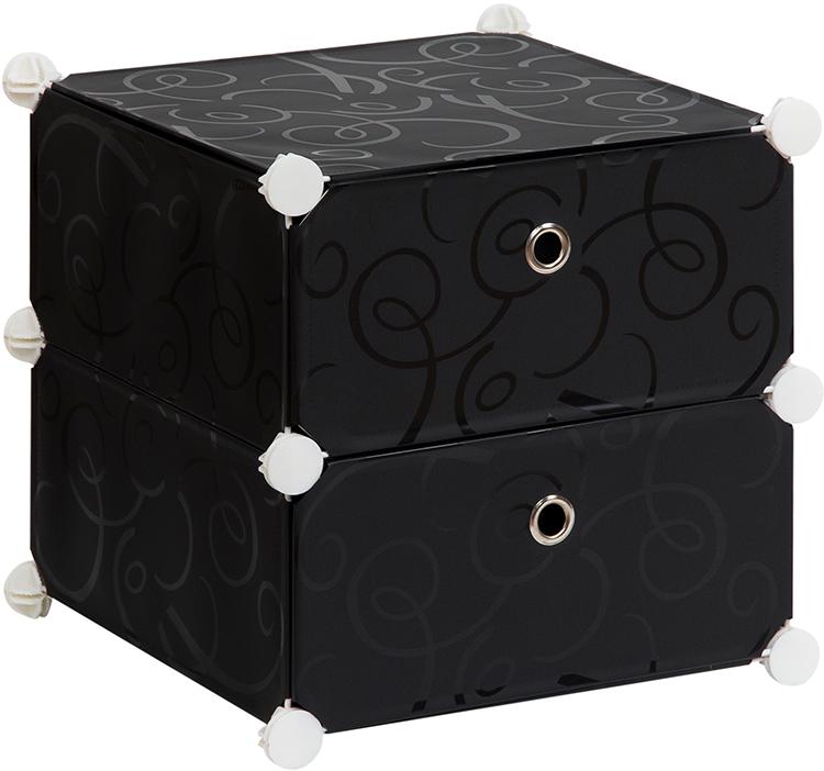 Полка складная EL Casa, для модульной системы хранения, цвет: черный, 37 х 39 х 39 см. 37064310503Полка складная EL Casa представляет собой сборный металлический каркас, на который натянуты панели изполипропилена. Дверцы снабжены магнитом, а ручка выполнена в виде кольца. Изделие имеет 2 отделения.Модульная полка предназначена для хранения одежды, игрушек и мелочей. Она легкая, вместительная, быстрособирается, не занимает много места, комбинируется с другими полками модульных систем El Casa.Компактная полка станет незаменимой дома или на даче, однотонная расцветка позволит ей вписаться в любойинтерьер.