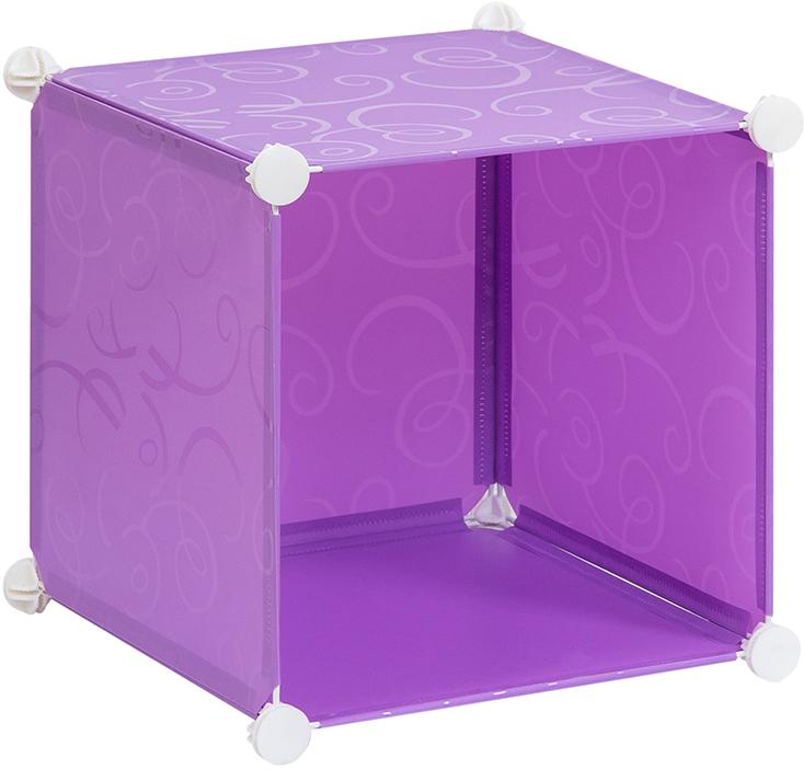 Полка складная EL Casa, для модульной системы хранения, цвет: фиолетовый, 37 х 39 х 39 см. 370662ES-412Полка складная EL Casa представляет собой сборный металлический каркас, на который натянуты панели изполипропилена.Модульная полка предназначена для хранения одежды, игрушек и мелочей. Она легкая, вместительная, быстрособирается, не занимает много места, комбинируется с другими полками модульных систем El Casa.Компактная полка станет незаменимой дома или на даче, однотонная расцветка позволит ей вписаться в любойинтерьер.