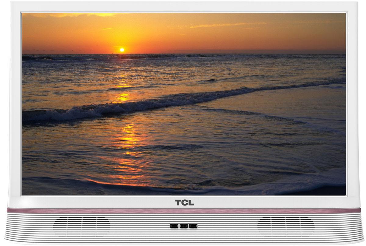 TCL LED24D2900S, White телевизорUE49MU6300UXRUТелевизор TCL LED24D2900S успешно совмещает в себе все функции, присущие полноценному развлекательномумедиацентру. Сочетание превосходного изображения и современных технологий предоставит вам возможностьнасладиться невероятно четким и ярким изображением. Источником сигнала для качественной реалистичной картинки служат не только цифровые эфирные и кабельныеканалы, но и любые записи с внешних носителей, благодаря универсальному встроенному USB медиаплееру.Телевизор поддерживает все популярные форматы.Устройство имеет ряд умных функций. Например, таких как телетекст, таймер сна, родительский контроль.Звук Dolby Digital сделает обладателя ТВ участником событий вместе с киногероями. Стереофонический,мощный, обогащенный басами звук никого не оставит равнодушным.Стильный корпус легко впишется в любой интерьер, а специальная возможность крепления телевизора настену позволит разместить устройство с максимальным удобством.