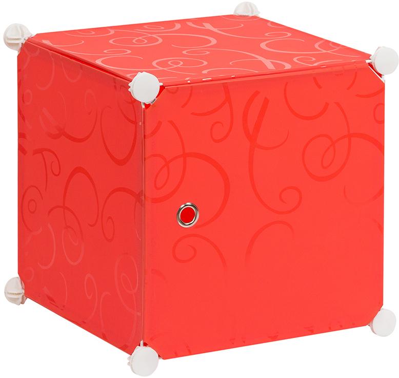 Полка складная EL Casa, для модульной системы хранения, цвет: красный, 37 х 39 х 39 см. 370672UP210DFСкладная модульная полка EL Casa представляет собой сборный металлический каркас, на который натянуты панели из полипропилена. Дверца снабжена магнитом, ручка выполнена в виде металлического кольца.Модульная полка предназначена для хранения одежды, игрушек и мелочей. Она легкая, вместительная, быстро собирается, не занимает много места, комбинируется с другими полками модульных систем El Casa.Компактная полка станет незаменимой дома или на даче, однотонная расцветка позволит ей вписаться в любой интерьер.