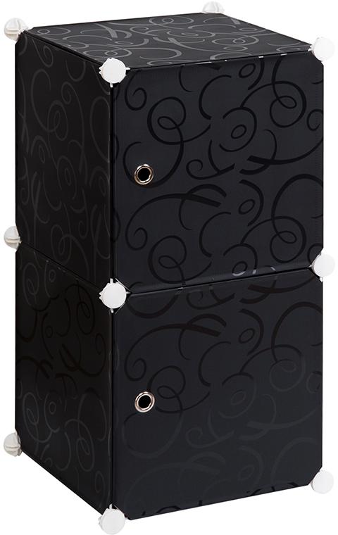 Полка складная EL Casa, для модульной системы хранения, цвет: черный, 37 х 39 х 74 см. 37067510503Складная модульная полка EL Casa представляет собой сборный металлический каркас, на который натянуты панели из полипропилена. Дверцы снабжены магнитом, ручки выполнены в виде металлического кольца. Изделие имеет 2 секции.Модульная полка предназначена для хранения одежды, игрушек и мелочей. Она легкая, вместительная, быстро собирается, не занимает много места, комбинируется с другими полками модульных систем El Casa.Компактная полка станет незаменимой дома или на даче, однотонная расцветка позволит ей вписаться в любой интерьер.
