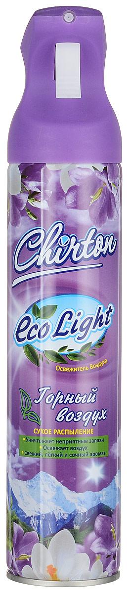 Освежитель воздуха Chirton ЭКО Лайт Горный воздух 280мл68/5/3Чиртон представляет новейшую серию освежителей для вашего дома с его незабываемыми ароматами на любой вкус. Высокое качество позволит быстро избавиться от неприятных запахов в любом уголке вашего дома. Современный дизайн и силуэт.УВАЖАЕМЫЕ КЛИЕНТЫ!Обращаем ваше внимание на возможные изменения в дизайне упаковки. Качественные характеристики товара и его размеры остаются неизменными. Поставка осуществляется в зависимости от наличия на складе.