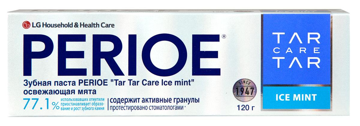 Perioe Зубная паста Tar Tar сare ice mint освежающая мята 120 г4605845001470Уменьшает образования зубного камня, а так же препятствует его дальнейшее развитие. Протестировано стоматологами. Эффективность подтверждена клиническими испытаниями.