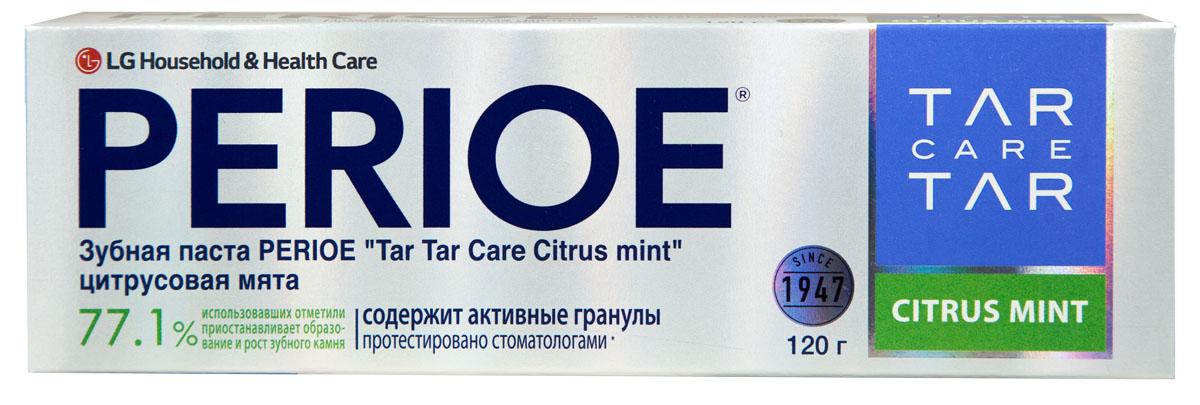 Perioe Зубная паста Tar Tar сare сitrus mint цитрусовая мята 120 гSB 506Уменьшает образования зубного камня, а так же препятствует его дальнейшее развитие. Протестировано стоматологами. Эффективность подтверждена клиническими испытаниями.