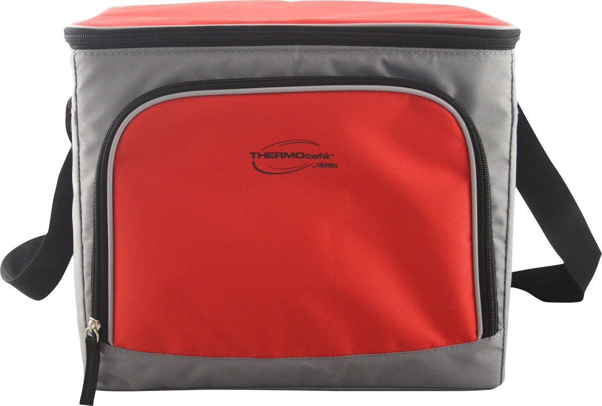 Сумка-термос ThermoCafe Brend 36 Can Cooler, цвет: красный, серый, 27 л850_черныйТермо-сумки из этой линейки товаров отличаются удобством переноски и компактностью хранения. Все модели выполнены в классическом серо-красном цвете.