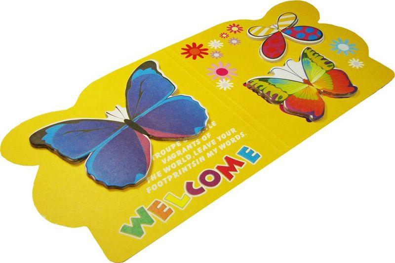 Zhelang Набор стикеров 3 бабочки на желтом фоне 15 шт72523WDНабор стикеров выполнен в виде 3 видов бабочек, каждая из которых состоит из 10-20 листочков.