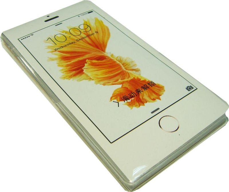 Zhelang Блокнот Телефон белый Цветок 50 листов в линейку2010440Блокнот в виде телефона с яркими линованными листами с принтом