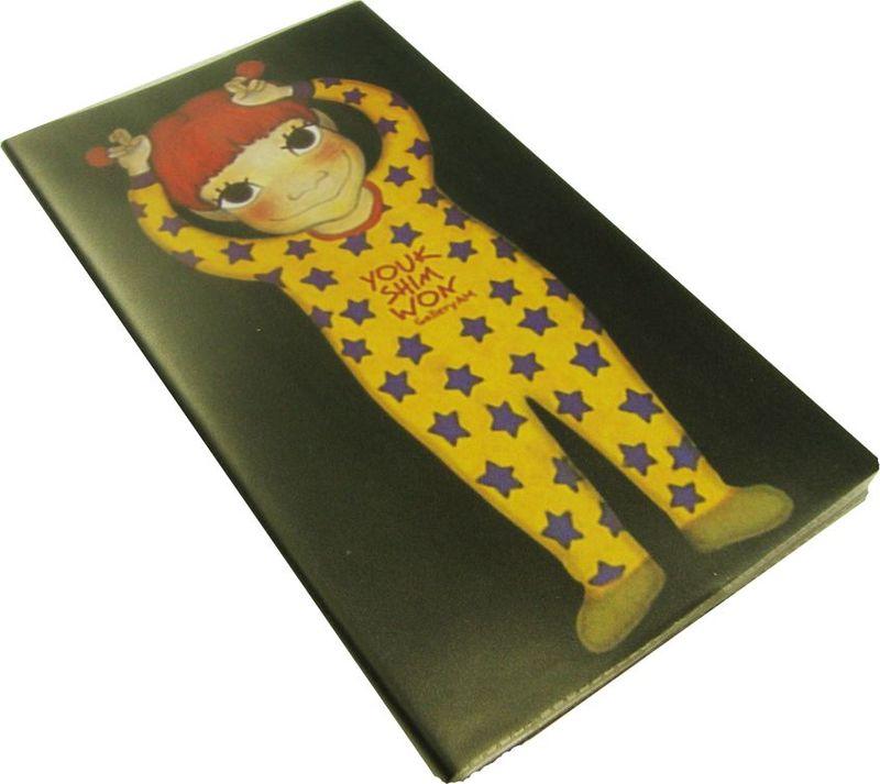 Zhelang Блокнот Девочка в желтой пижаме 100 листов в линейку72523WDБлокнот в полиэтиленовой обложке со 100 линованными листами