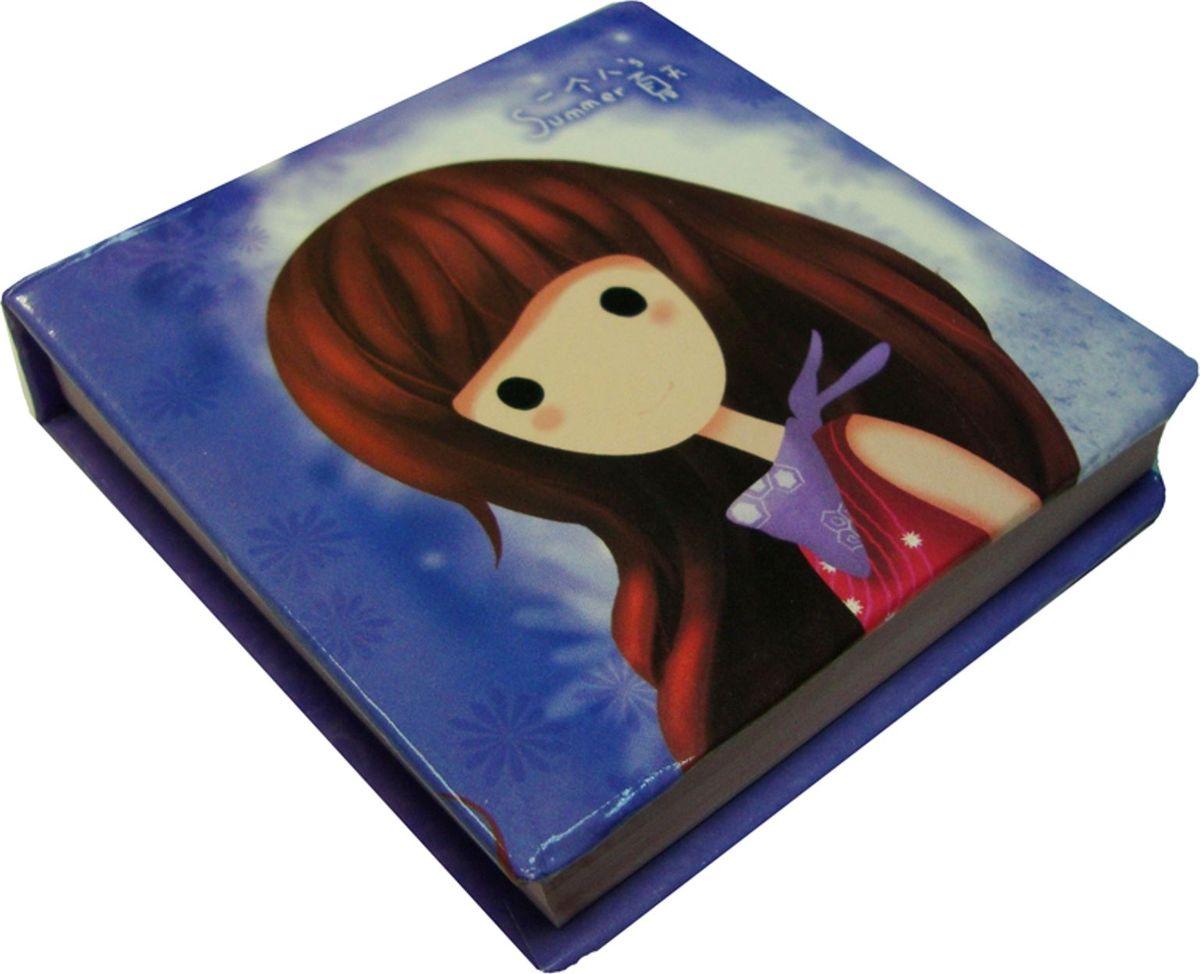 Zhelang Блокнот Девочка 95 листов цвет голубой72523WDБлокнотик с нелинованными листами с цветными картинками