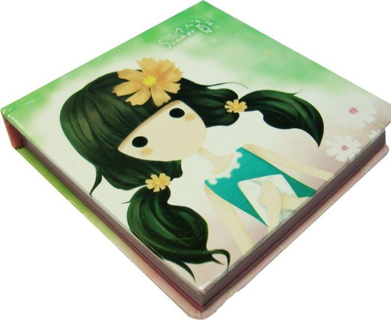 Zhelang Блокнот Девочка 95 листов цвет бледно-зеленый72523WDБлокнотик с нелинованными листами с цветными картинками